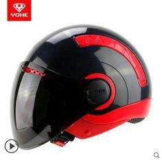 Aliexpress.com: Comprar 2015 vintage retro casco de la motocicleta capacete moto de la motocicleta summer media casco nuevo estilo casco casco moto capacete de casco de accidente fiable proveedores en You fashion shop