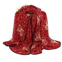 Новое мода красный, синий, черный, белый, бежевый слон печать шарф, животных печать шарф весной шарф Mix цвет(China (Mainland))