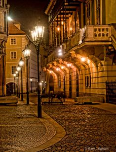 Old Time streets in the very beautiful Prague
