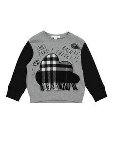a1d3abb0c93c Burberry Black Rain Check Cloud Sweater