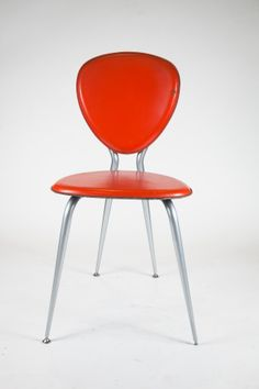 Orange Leather Enrico Pellizzoni Chair – FleaPop – Buy and sell home decor, furniture and antiques