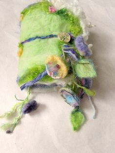 felted wool journal art book   enchanted forest by beautifulplace, $67.00