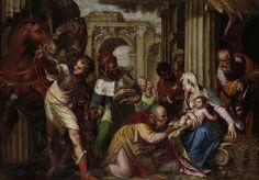 De aanbidding van de koningen, Paolo Farinati, ca. 1585