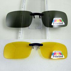 Super Light Polarized Sunglasses Clip on Yellow Night Vision Glasses Unisex Eyeglasses Clip Deep Green Lens Aviate Drive Goggles