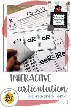 This articulation binder provides an organized and comprehensive way for SLPs to treat articulation disorders. It includes lots of speech therapy cut and paste activities that students love!