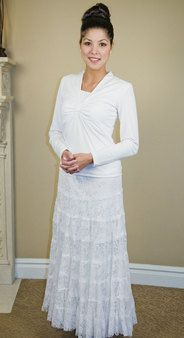 Lace Skirt - White Elegance - Makers of LDS Temple Clothes, Temple Dresses, Pioneer Costumes and more