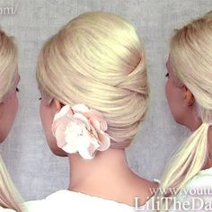 "Title for YouTube how to video: ""Criss cross hairstyles: half up half down, ponytail and updo for medium long hair tutorial"""