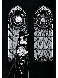 kaori-wakamatsu-illustration Japanese Goddess, Ink Art, Designs To Draw, Artsy Fartsy, Anime Art, Illustration Art, Sketches, Drawings, Painting