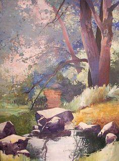 Randall David Tipton -Reed Canyon Spring oil on canvas 48x36