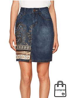 FALDA VAQUERA  moda  mujer  fashion  woman  women  modamujer  faldas  ropa   verano  summer  primavera  moda2018  shopping  comprasonline  tendencias   trendy ... d1e5a3b0c82c
