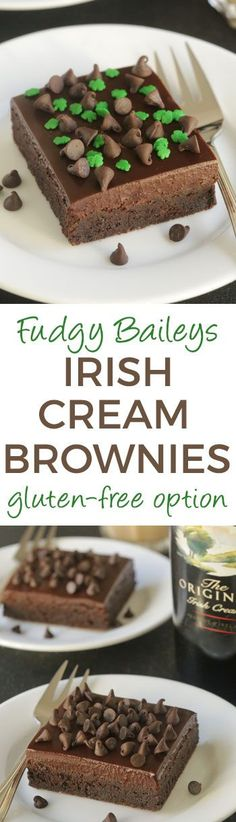 Super fudgy and boozy Baileys Irish Cream Brownies with spiked chocolate ganache. Can be made with all-purpose, whole wheat or buckwheat flour for a gluten-free version!