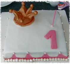 Meine erste Torte zum 1. Geburtstag meiner Tochter.