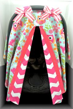 My little girl will need this. carseat canopy car seat cover owls blue pink by & READY TO SHIP - Girl carseat canopy - Girl carseat cover - Paris ...