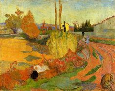 Landscape at Arles (1888) Paul Gauguin more works by this artist