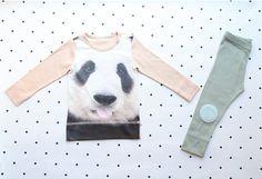 PJs/pajamas/ Kids pajamas with Panda /  Kid's PJs /  Pajamas for kids / toddler size 12M-6