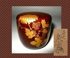 ★ Japanese Tea Ceremony Caddy Natsume Makie Lacquer | eBay