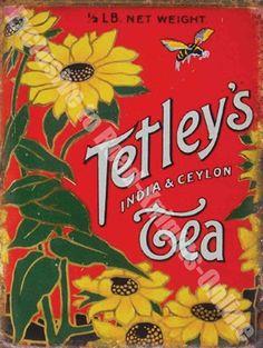 Tetley Tea, Vintage Tins, Vintage Food, Vintage Kitchen, Vintage Style, Tea Cafe, Tea Tins, Tea Canisters, Vintage Packaging