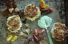 Shrimp & Corn Cakes w/Avacado Sauce