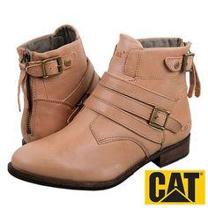 Caterpillar Vivienne Shetland Tan Leather Ankle Boots - Women's 9.5