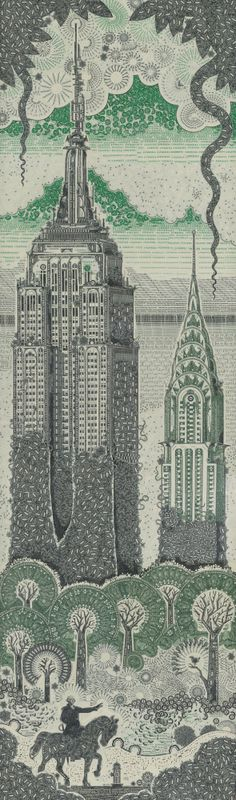 """MARK WAGNER • """"Overgrown Empire"""" by Mark Wagner, who uses currency in his collages • markwagnerinc.com"""