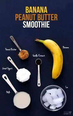 Banana penut butter smoothie