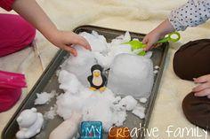 Antarctica Sensory Play (with real snow)