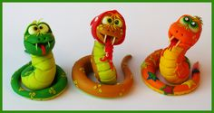 The most darling polymer clay snake creatures!!