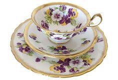 Royal Chelsea English Bone China Tea Set from England