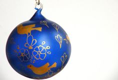 Glass Painting Hand painted Decorative Hand Blown by ArzuMusa