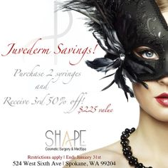 January Injectables Special! Restrictions apply, please call for details.