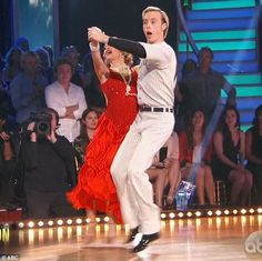 """Dancing With the Stars  -  Allison Holker & Riker Lynch danced a 1920s baseball themed quickstep to  Jason Derulo  & Snoop Dogg's   """"Wiggle""""  -  season 20  -  week-7  -  spring 2015  -  score -  9+10+9+9 = 37  -  Riker sought a 10 from judge Len Goodman and they got it"""