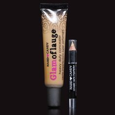 For when you want a Tattoo, but you also want to audition for that period piece. Hard Candy Glamoflauge HEAVY DUTY CONCEALER with pencil (TAN color 314)
