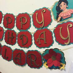 Elena de Avalor feliz cumpleaños y nombre banner