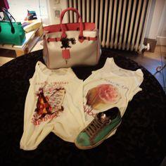 London vintage shirt Mumi carbon silver/pink and Diadora Sneakers