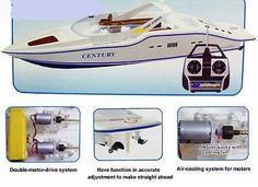 RC Racing Yacht Radio Remote Boat Century Display Stand Racing Motor Gift NEW!