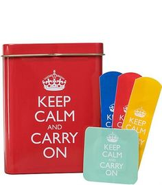 Keep Calm and Carry On Band Aids... love these!