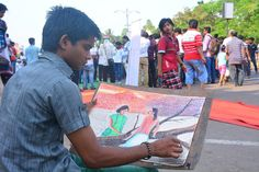 beautiful painting by an artist in 14th Raahgiri Bhubaneswar
