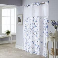 Cherry Blossom 2 Pc. Fabric Shower Curtain
