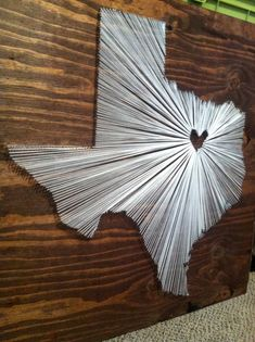 30x30 I Love My State Dallas TX by nidification on Etsy, $70.00