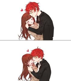 ~💕😍😘💕💞 📣📢 Turn on post notification {_/} (๑ Mystic Messenger Fanart, Saeran, Cute Couples, Cute Pictures, Fan Art, Artist, Anime, Saeyoung Choi, Dating Games