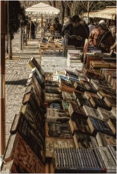 Open air bookstore..toss a coffee shop into the center of it all and this would be my idea of heaven!
