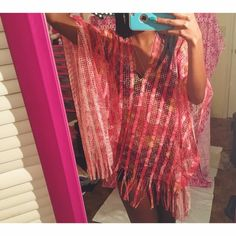 """Sunrise Beach Cover Poncho  Brand new still in original package  My Measurements  Height - 5'6  Weight - 110  26' waist bust' 34B For future references ❤️  Perfect for the beach , poolside or can be worn to any occasion  Vibrant colors  One size Fits All  Brand - Boutique  No asking for """"what's lowest"""" Offers through the offer button only  Swim Coverups"""
