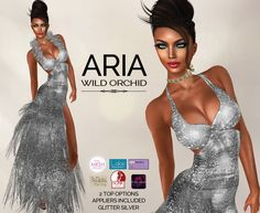 03305a91a101 Second Life Marketplace - Wild Orchid   Aria   Silver (Appliers Included)  Wild Orchid