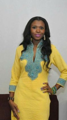 Adding African material to existing dress African Print Dresses, African Print Fashion, Africa Fashion, African Fashion Dresses, African Attire, African Wear, African Women, Look Fashion, Fashion Outfits