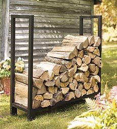 I need a sturdy log rack.  This one will hold one face-cord of wood.