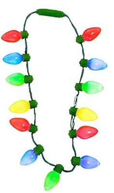 Light up Christmas Bulb Necklace NECKLACE ): An essential fashion decoration for holiday celebration. This novelty necklace features a multi-color array of Holiday tree bulbs as the pendants. Family Christmas Party Games, Xmas Games, Christmas Fun, Christmas Bulbs, Holiday Tree, Family Games, Christmas Decorations, Teen Party Games, Sleepover Party
