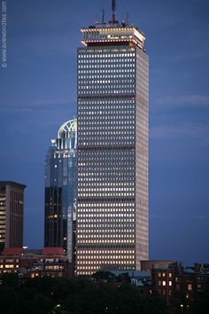 Prudential Center at dusk - Boston Pictures