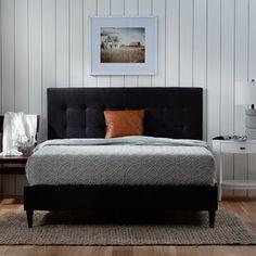 Winston Porter Sagamore Platform Bed | Wayfair Platform Bed Frame, Upholstered Platform Bed, Upholstered Beds, Faux Leather Sofa, Wooden Slats, Bed Reviews, Adjustable Beds, Furniture Hardware, Wood Furniture