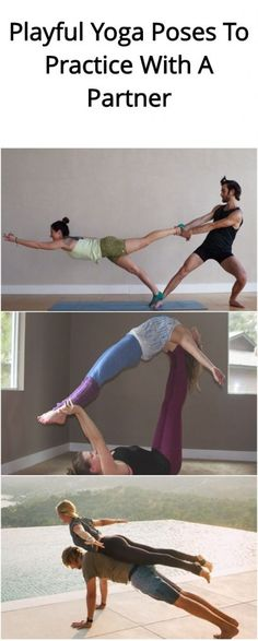 4 Playful Yoga Poses To Practice With A Partner yoga - Yoga Couples Yoga Poses, Acro Yoga Poses, Yoga Poses For Two, Partner Yoga Poses, Bikram Yoga, Ashtanga Yoga, Yoga For Two, Pilates Poses, Kundalini Yoga