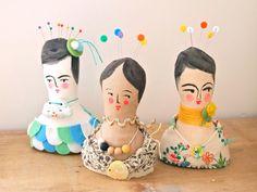Soft sculpture display doll primitive folk by JessQuinnSmallArt, £37.50  love this !